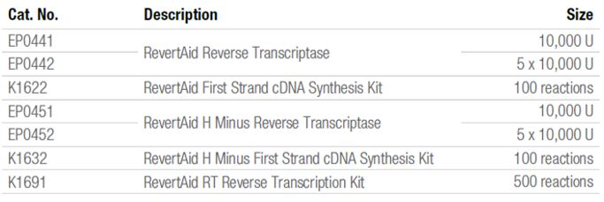 RevertAid™ Reverse Transcriptases